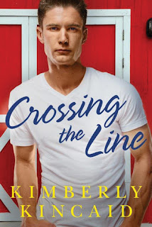 romance novel covers, contemporary romance ,Crossing the Line by Kimberly Kincaid