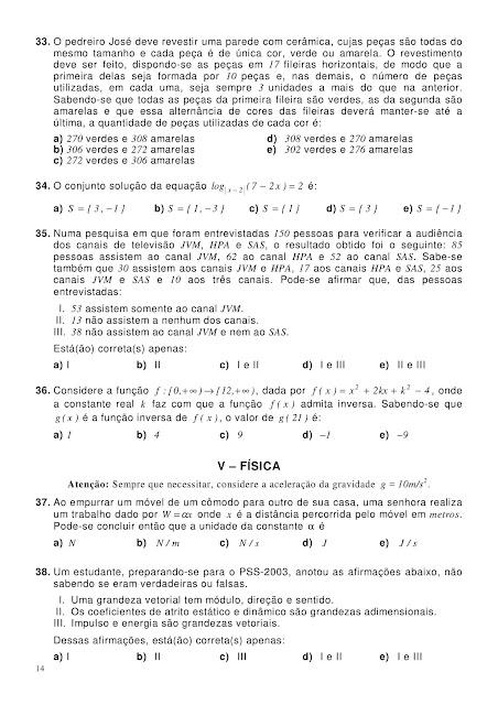 Prova Matemática 1 Ano Ensino Médio