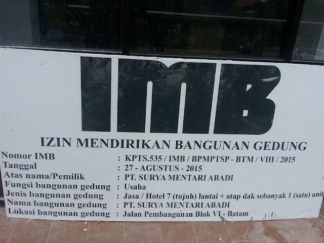 Bangunan Hotel 7 Lantai Berdiri Dilahan Buffer Zone, BP Batam dan BPM-PTSP (Pemko) Batam Saling Lempar Tanggung Jawab