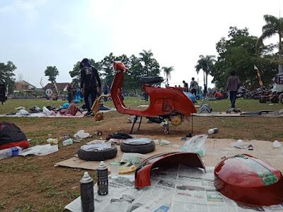 Berbalut Silaturahmi dan Spirit Sosial, Ribuan Scooter Banjiri Kota Metro