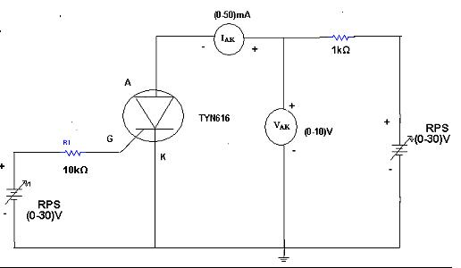 silicon controlled rectifier circuit