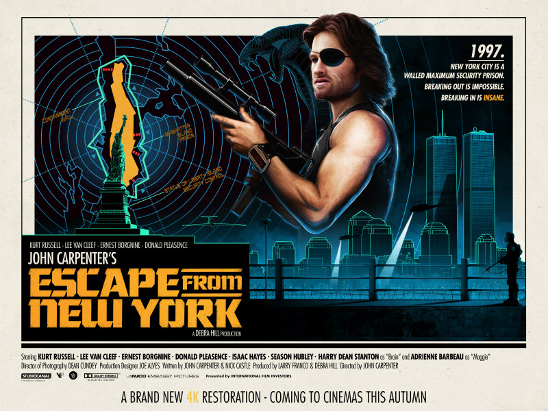 escape from new york 4k poster