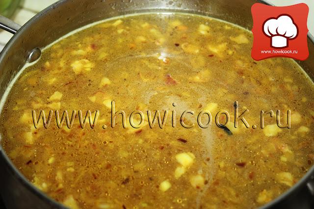 Суп с чечевицей и беконом от Джейми Оливера пошаговые фото