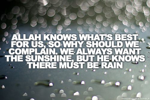 Allah know what's best for us - quote