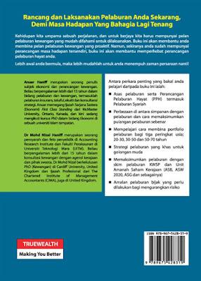 Cover muka surat belakang buku Perancangan Pelaburan Hayat