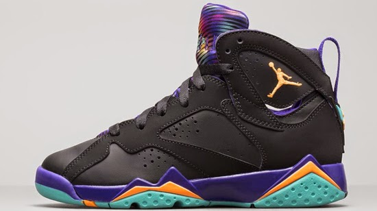 reputable site 95505 d490c ... Jordan 7 Retro BG Barcelona Days (Dark Grey Turquoise Blue - Wolf Grey  ajordanxi  Your 1 Source For Sneaker Release Dates Girls Air ...