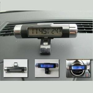 Aksesoris mobil Jam Digital LED dan Temperatur