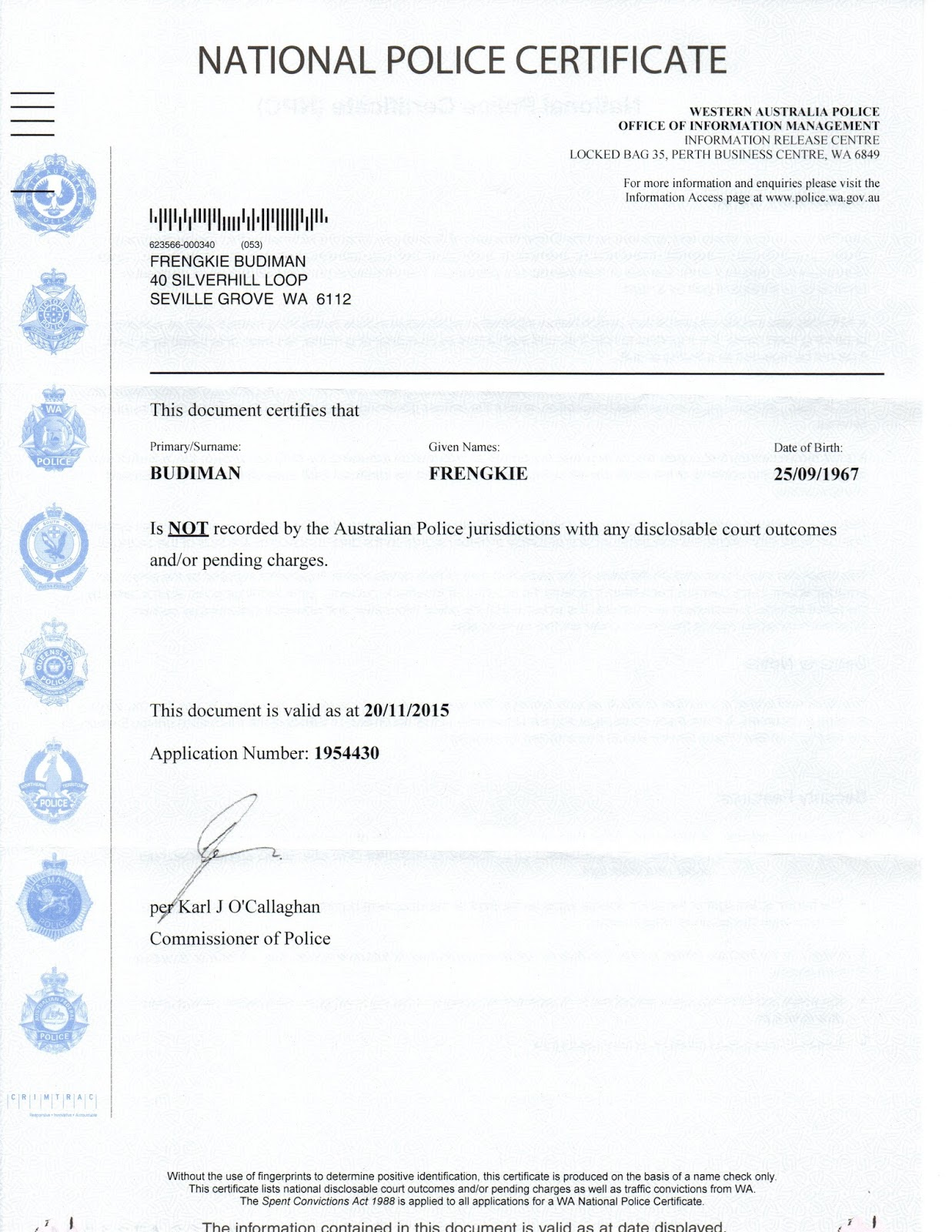 My police clearance abn working with children check and driving my police clearance abn driving licence and working with children check xflitez Choice Image