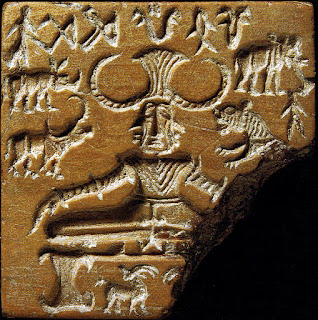 Mohenjo-Daro Seal No.420, popularly known as the Pashupati seal