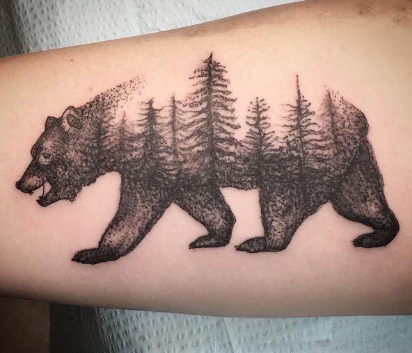 California Bear And Trees Tattoo Bear Flag Museum