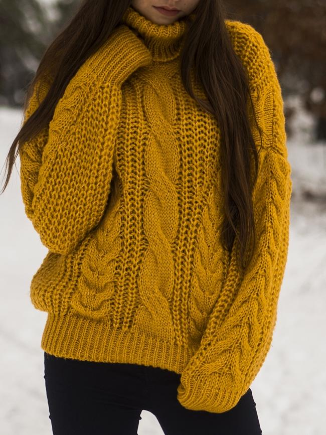 gdzie kupie musztardowy sweter