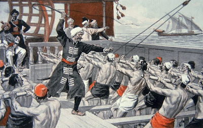 Σκλάβοι κωπηλάτες σε οθωμανικό πλοίο