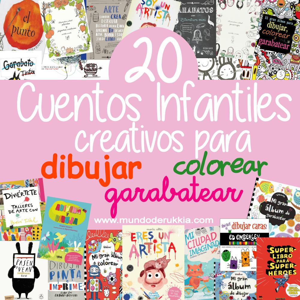 20 Cuentos Infantiles Creativos para Dibujar, Garabatear y Colorear ...