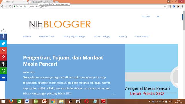 mesin pencari tidak melihat halaman seperti manusia tetapi melihat dengan merayapi halaman dengan melihat HTML