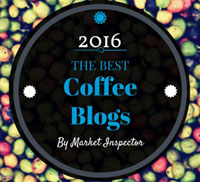 Awarded 2016 Best Coffee Blog Award by Market Inspector