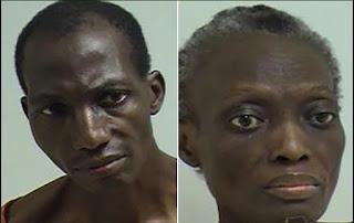 Arrested Nigerian Couple
