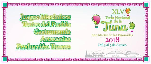 feria de la tuna san martín de las pirámides 2018