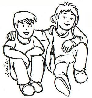 Resultado de imagen de amigos charlando dibujos