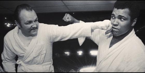 Chuck Wepner and Muhammad Ali