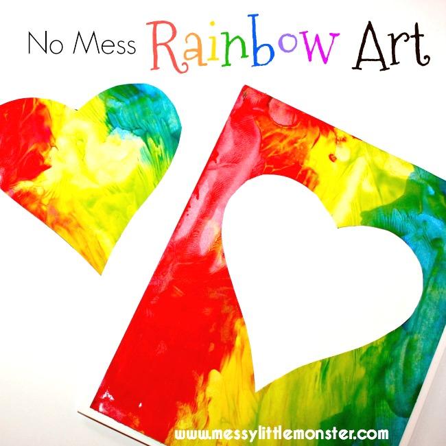 No Mess Rainbow Art - Messy Little Monster