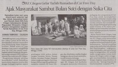 RZ Cilegon Gelar Tarhib Ramadhan di Car Free Day Cilegon