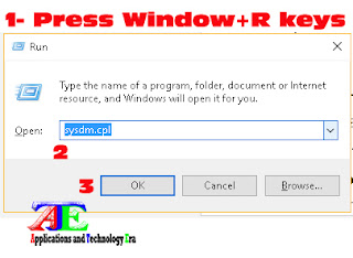 Press windows+R key to open run commander