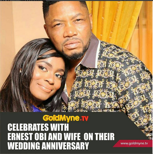 Actor Ernest Obi And Wife, Evi Celebrate 6th Wedding Anniversary, Marks Her Birthday