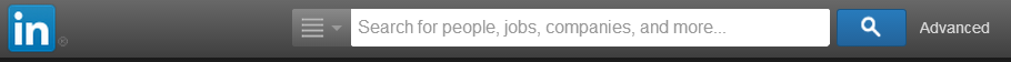 Screenshot of the linkedin search bar