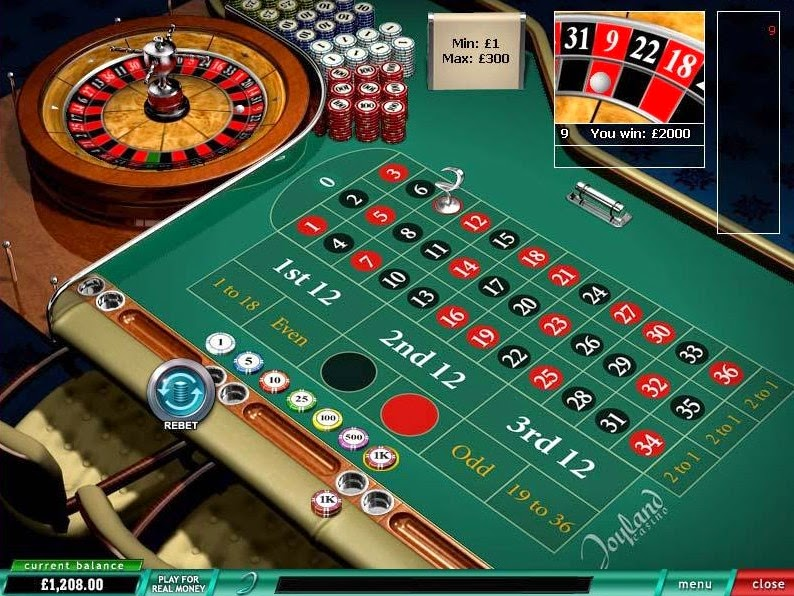 Joyland Casino Roulette Screen