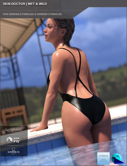 Skin Doctor - Wet - Wild for Genesis 8 and 3 Female