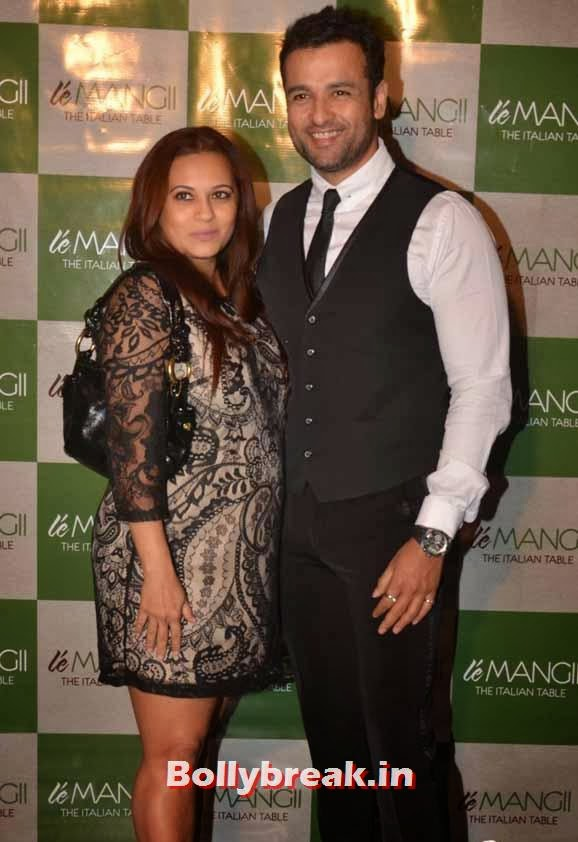 Manasi Joshi Roy and Rohit Roy, Page 3 Celebs at 'Le Mangii' Launch Party