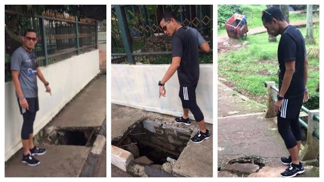 Upload Foto lubang Di Jalan, Sandiaga Uno Malah di Katain Begini Sama Netizen
