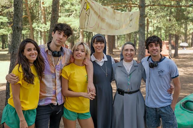 Primeras imágenes del rodaje de 'La llamada' con Macarena García y Belén Cuesta