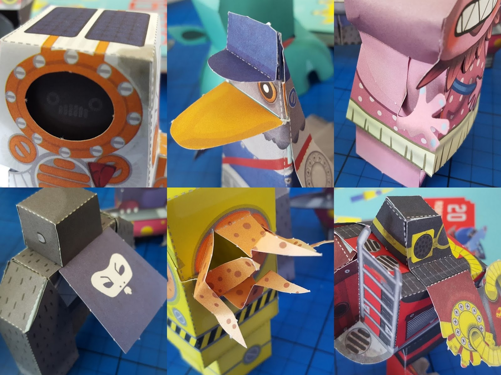 the brick castle paper aliens and paper robots awesome model