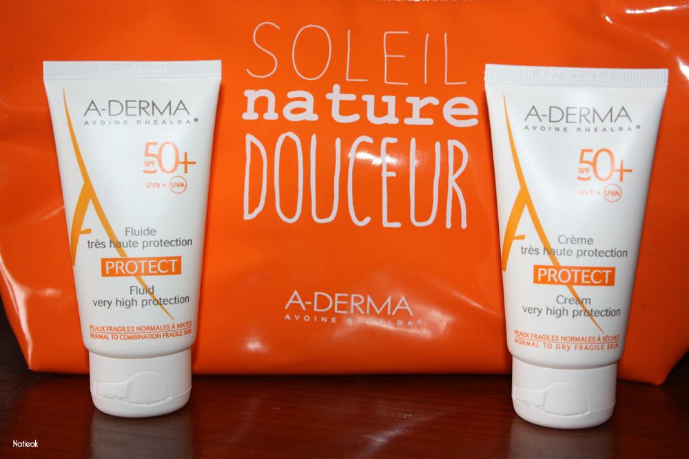 crème et fluide  solaire de A-Derma