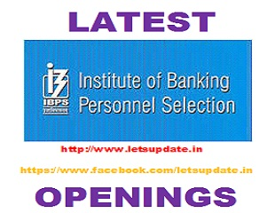 (IBPS) CWE 2017, banking jobs, ibps job, po jobs, letsupdate