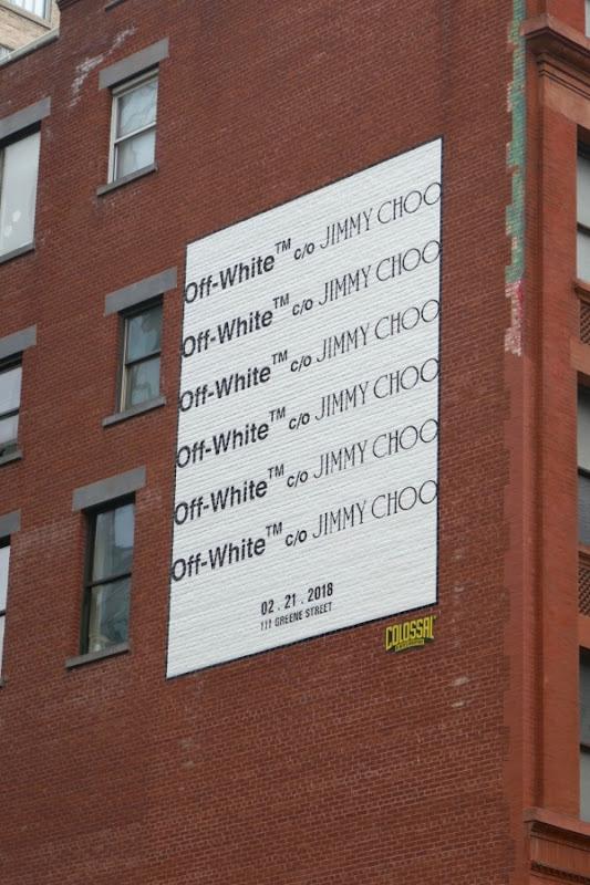Off-White Jimmy Choo billboard NYC