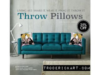25% off throw pillows by troderickart.com