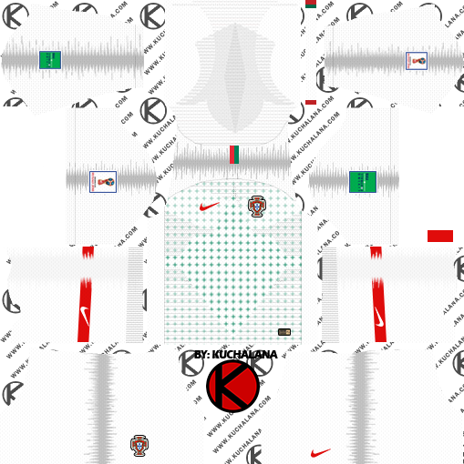 Portugal 2018 World Cup Kit - Dream League Soccer Kits - Kuchalana