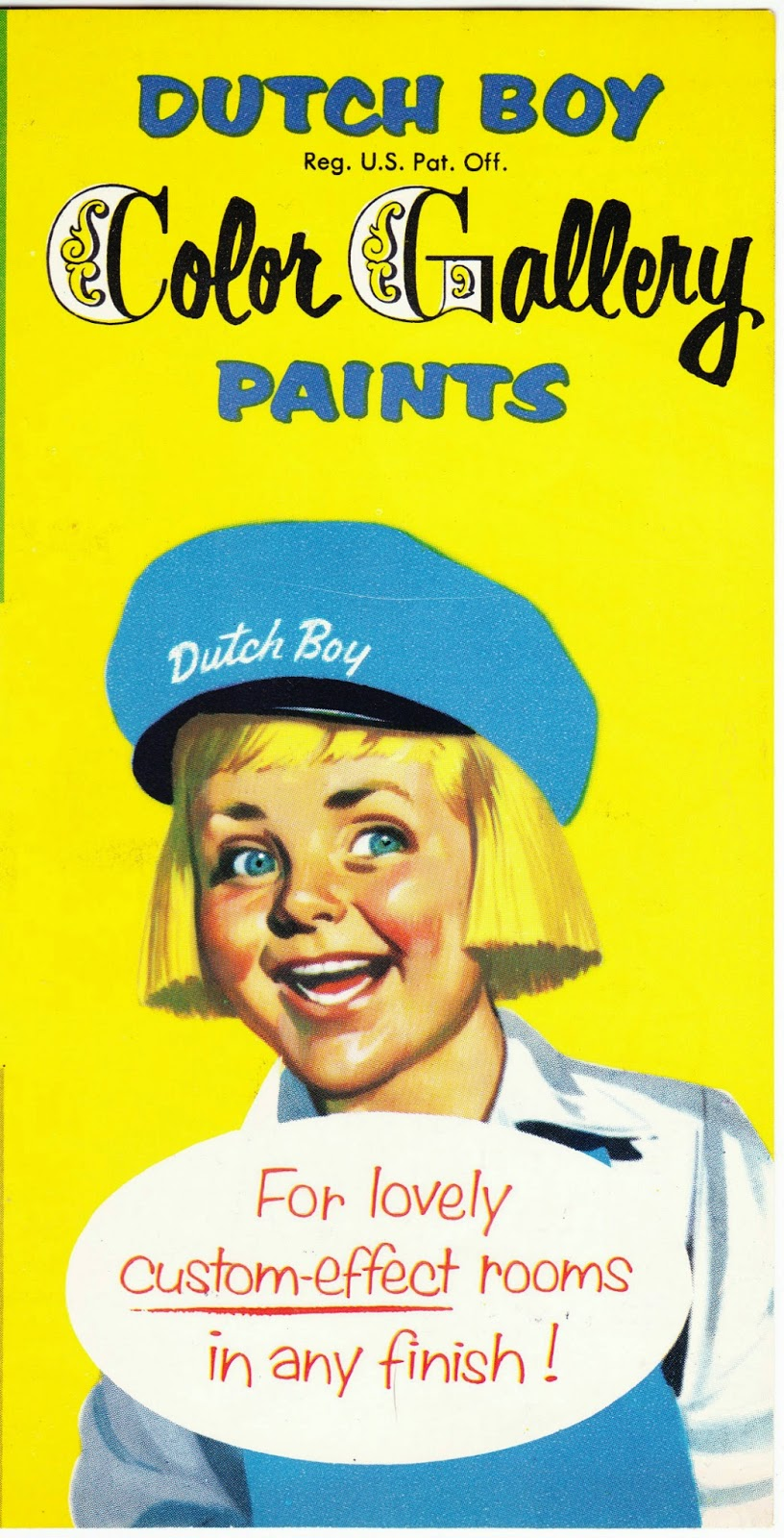 Vintage Pamphlet Touting The Dutch Boy Color Gallery