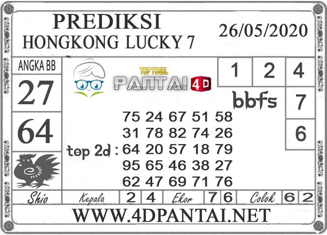 PREDIKSI TOGEL HONGKONG LUCKY 7 PANTAI4D 26 MEI 2020