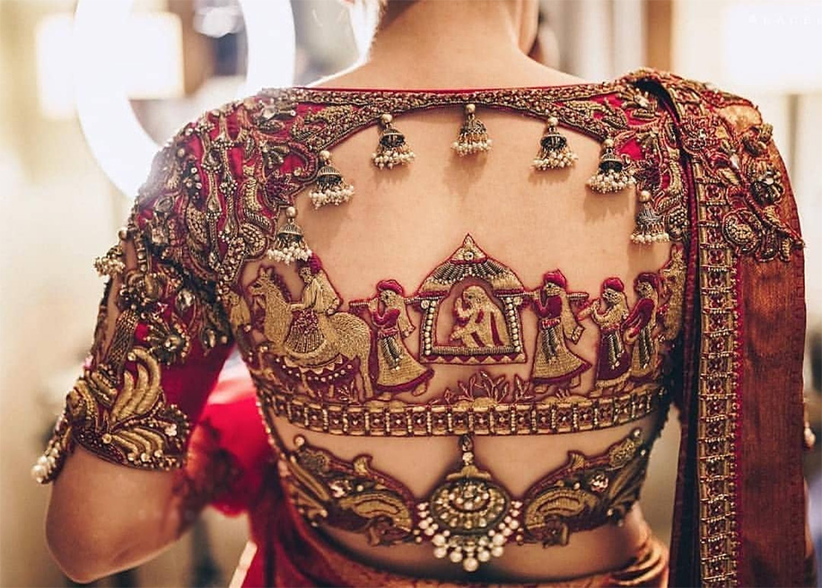 Beautiful Designer Embroidered Blouse Designs 2019 Bd Fashion Collection