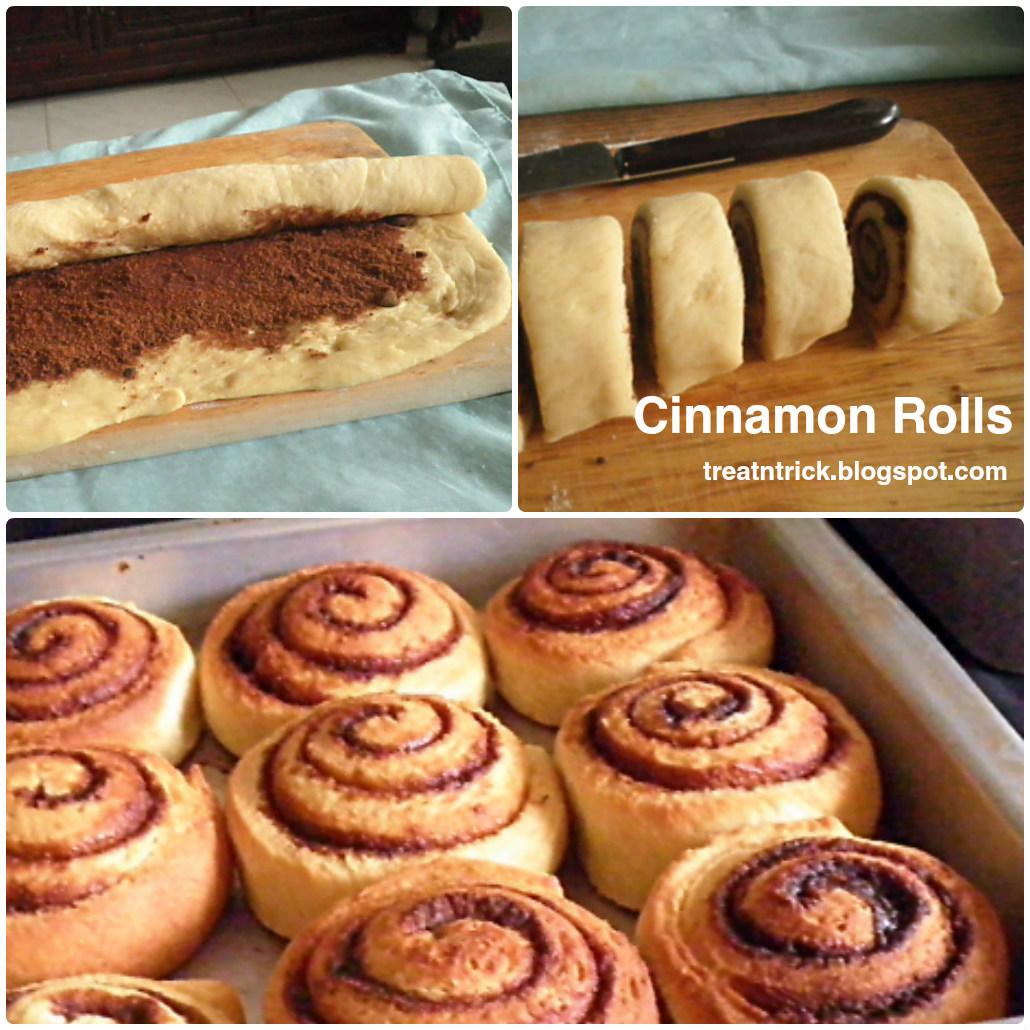 treat trick cinnamon rolls. Black Bedroom Furniture Sets. Home Design Ideas