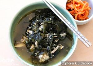 makanan khas korea sup rumput laut