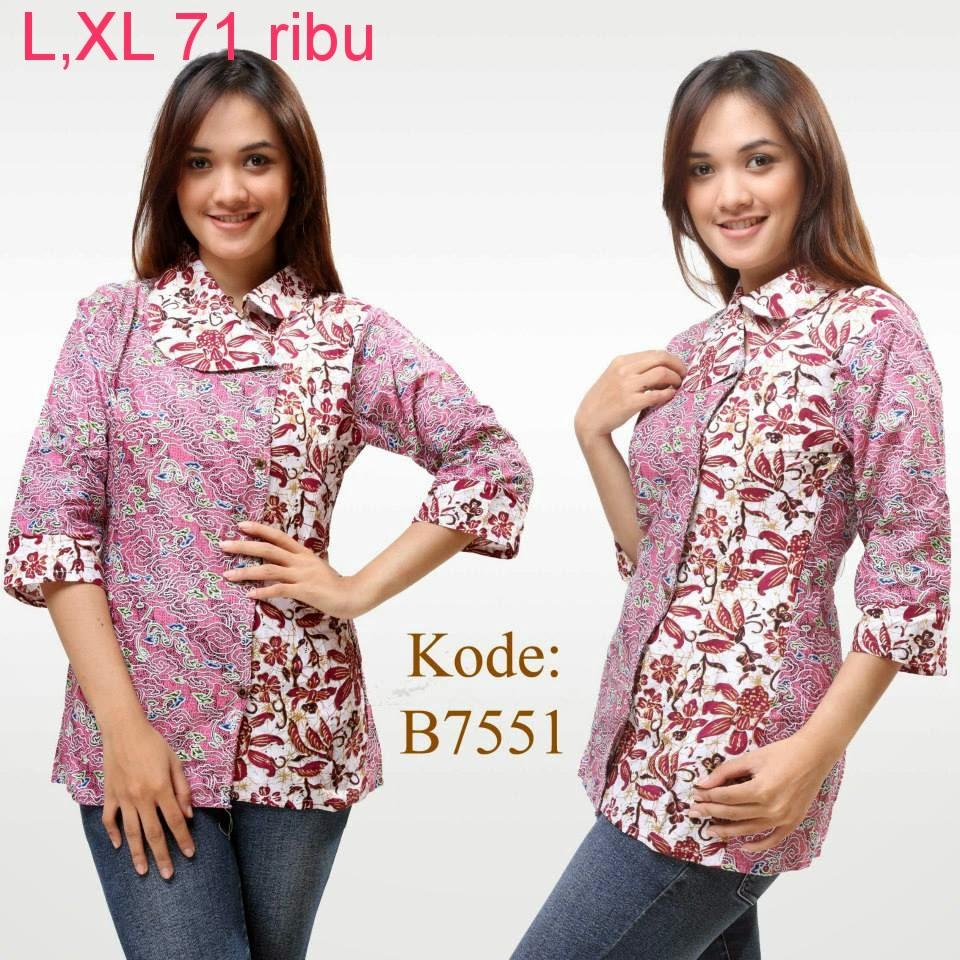 Model Baju Batik Modern Untuk Kerja Wanita: Model Baju Atasan Batik Wanita Modern
