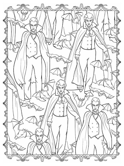 Halloween scapes coloring pages for adult free sample 2