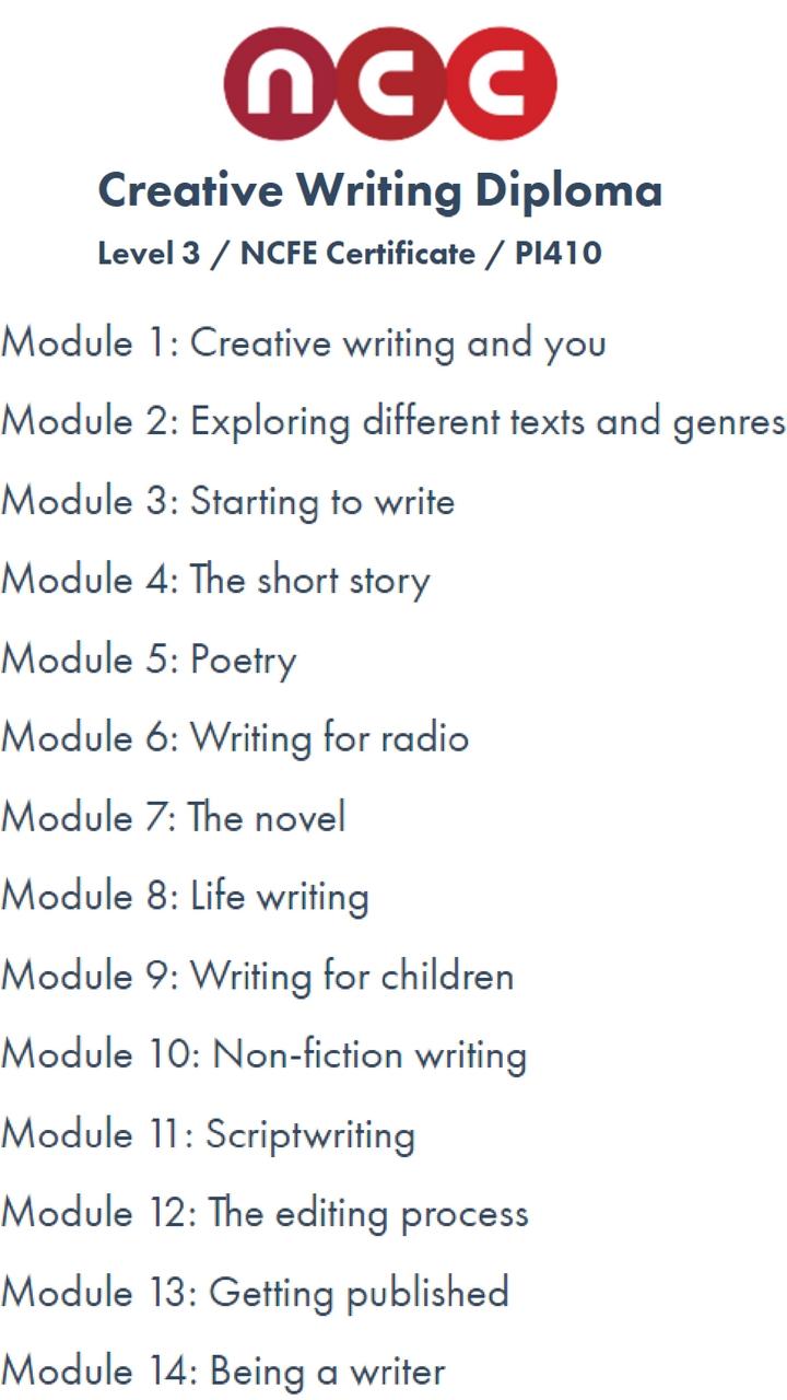 nocn creative writing level 3