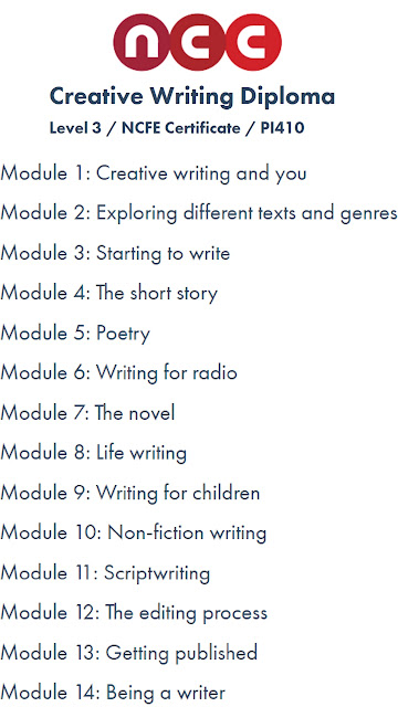 The creative writing module breakdown. What a great prize.
