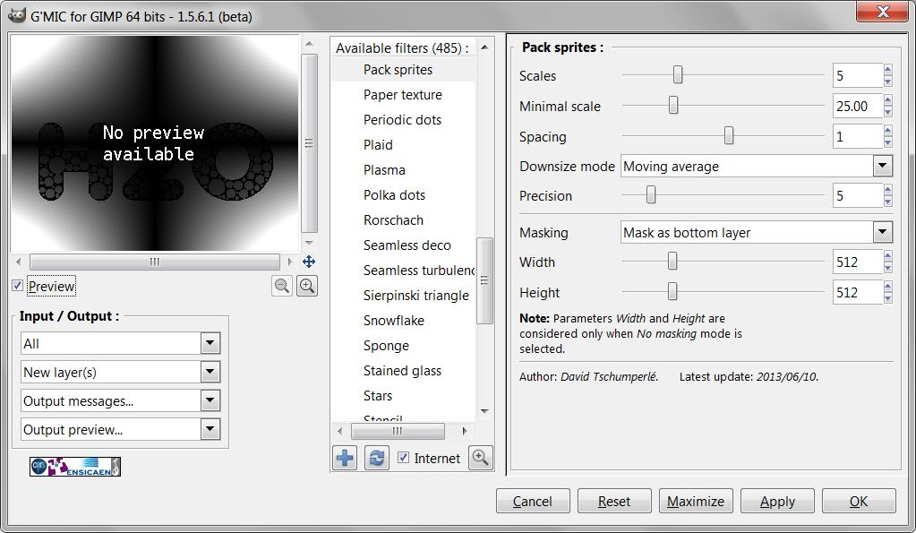Gimp Font Pack