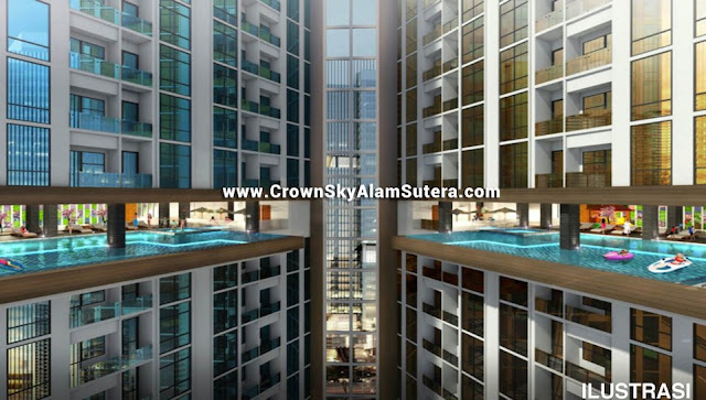Swimming Pool Crown Sky Alam Sutera